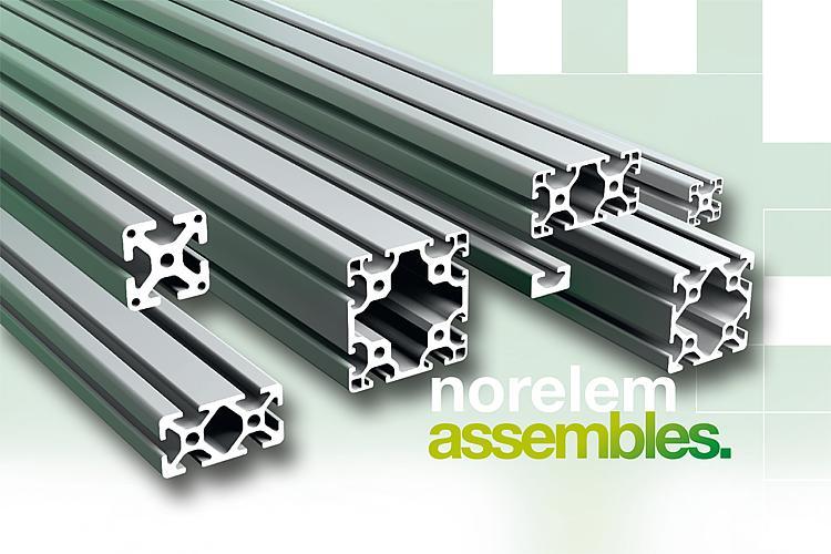 norelem : nouveautés dans la gamme en profilés en aluminium