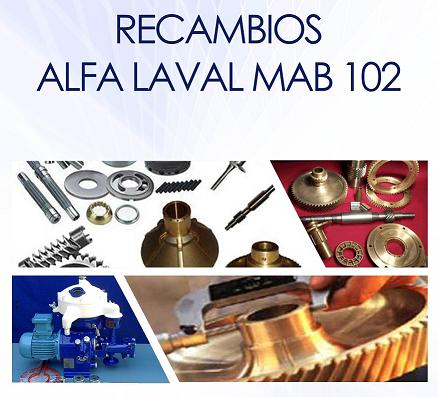 Catálogo de repuestos y recambios MAB 102 Alfa Laval