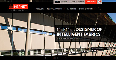 Mermet improves the product selection with a new website
