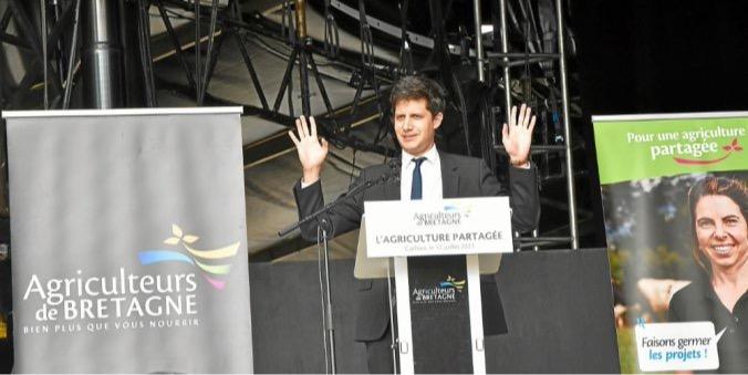 le ministre de l'Agriculture a défendu le « modèle » breton