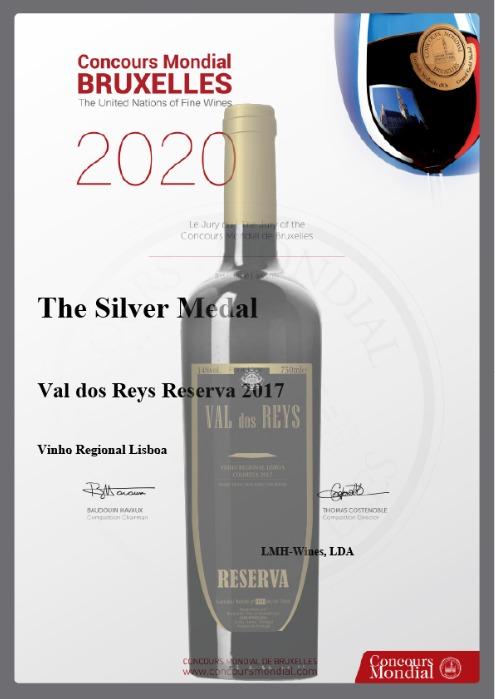 Val dos Reys Reserva 2017 premiado em Bruxelas