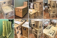 How do we ship packages with puzzles and props?