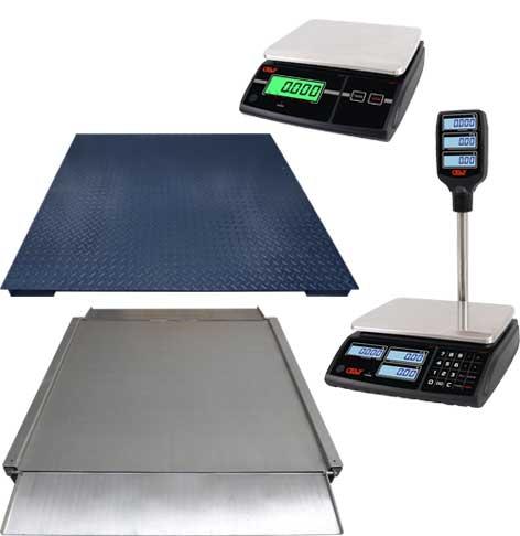 Nuevas balanzas sin impresora y plataformas de pesaje