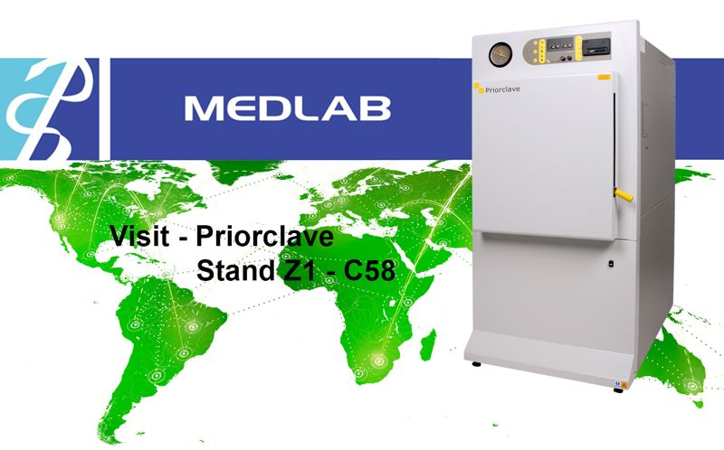 Priorclave shows Versatile Front-loading Autoclave at Medlab