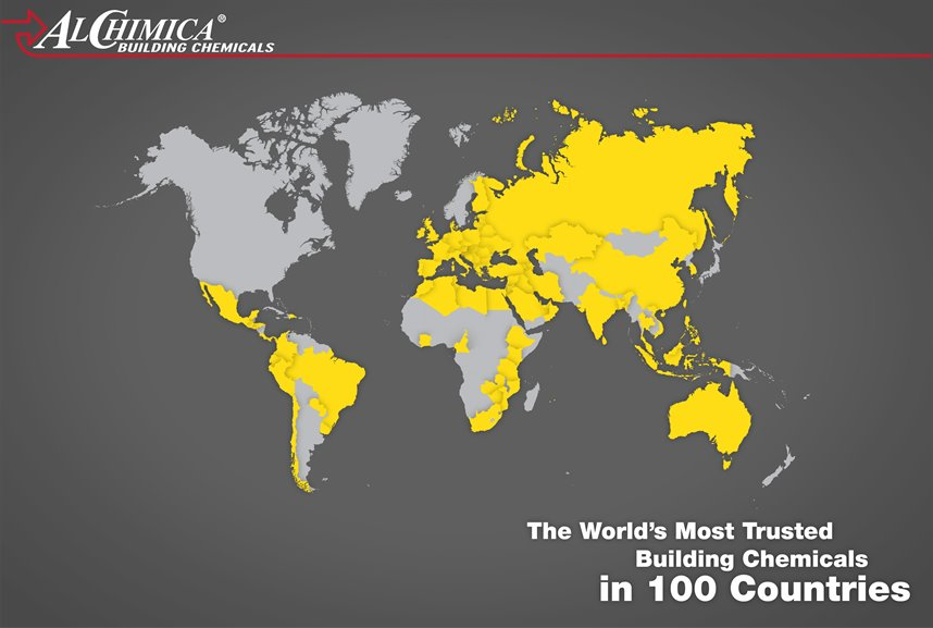 ALCHIMICA products in 100 countries worldwide
