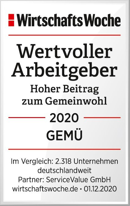 """GEMÜ recognised as a """"valuable employer for the common good"""""""