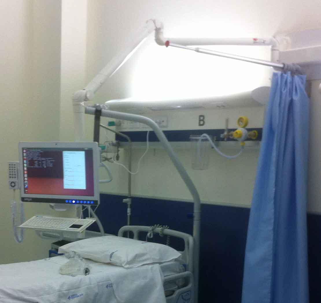 Nuovi bracci ospedalieri per PC e TV