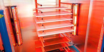 New paint dryer for wood and metal products