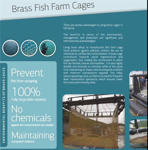 BRASS WIRE for FISH FARMS