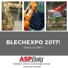 Besuchen Sie uns auf der Blechexpo 2017 in Stuttgart.