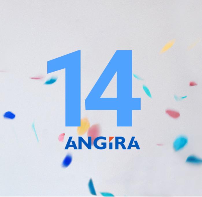 Сегодня компания Ангира празднует свой 14й день рождения!