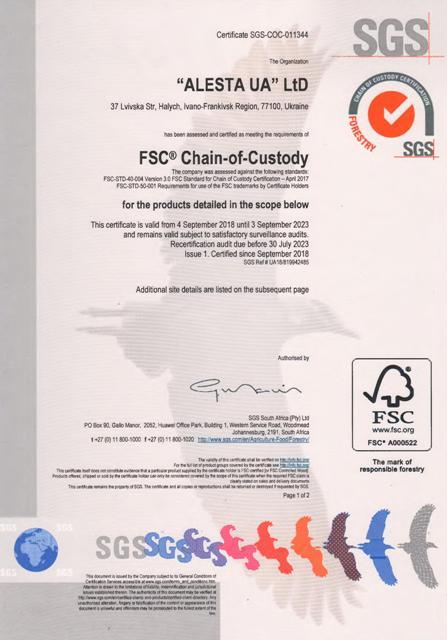 FSC Certiifcation