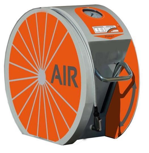Luftpumpe für Fahrräder im Kommunalbereich