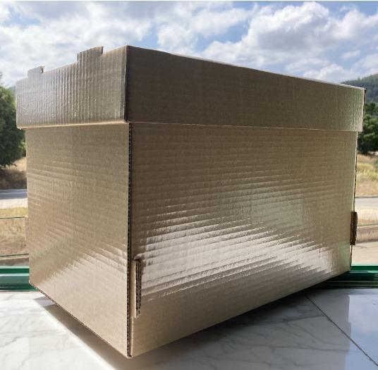 Caja de cartón con plastificado antihumedad
