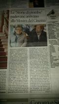 """""""Storie di piombo"""" alla mostra del cinema di Venezia"""
