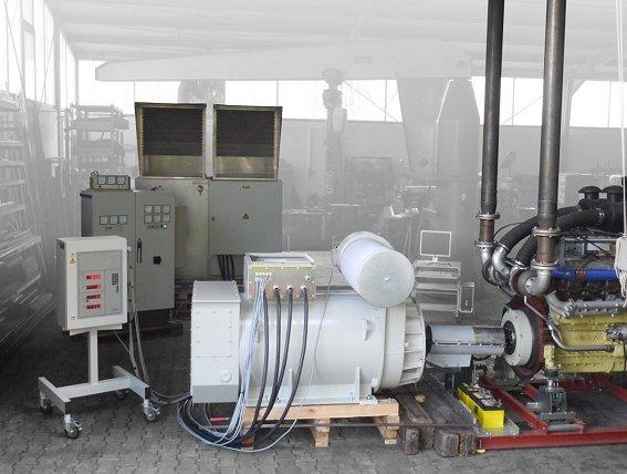 Große Motoren und Getriebe erproben ohne Kühlwasser