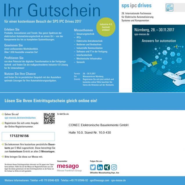sps ipc drives in Nuremberg 28.-30.11.2017