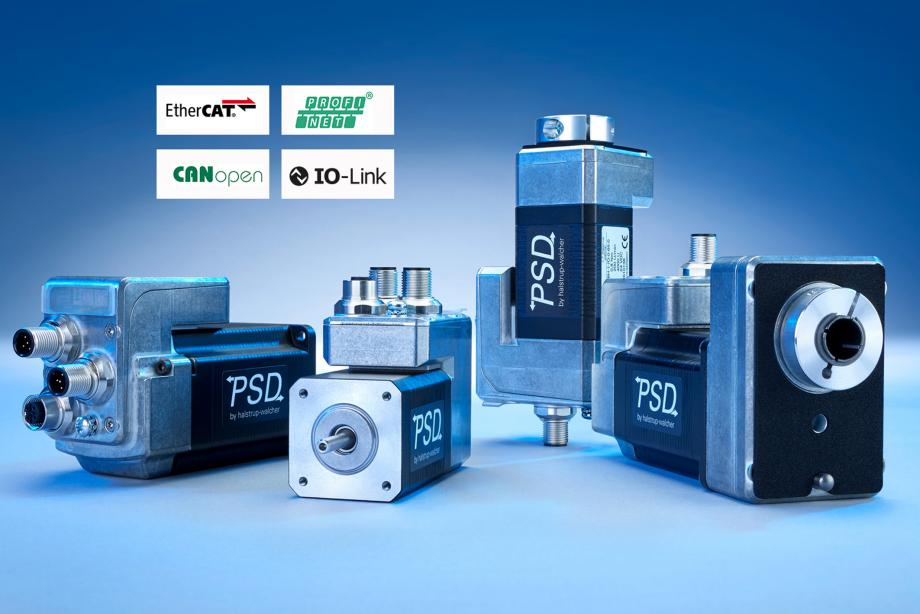 Integrated PSD direct drives with PROFINET and EtherCAT