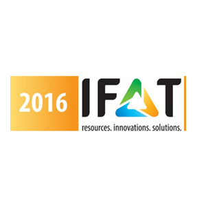Meet us at IFAT 2016 in Muich Germany on booth FM 512/1
