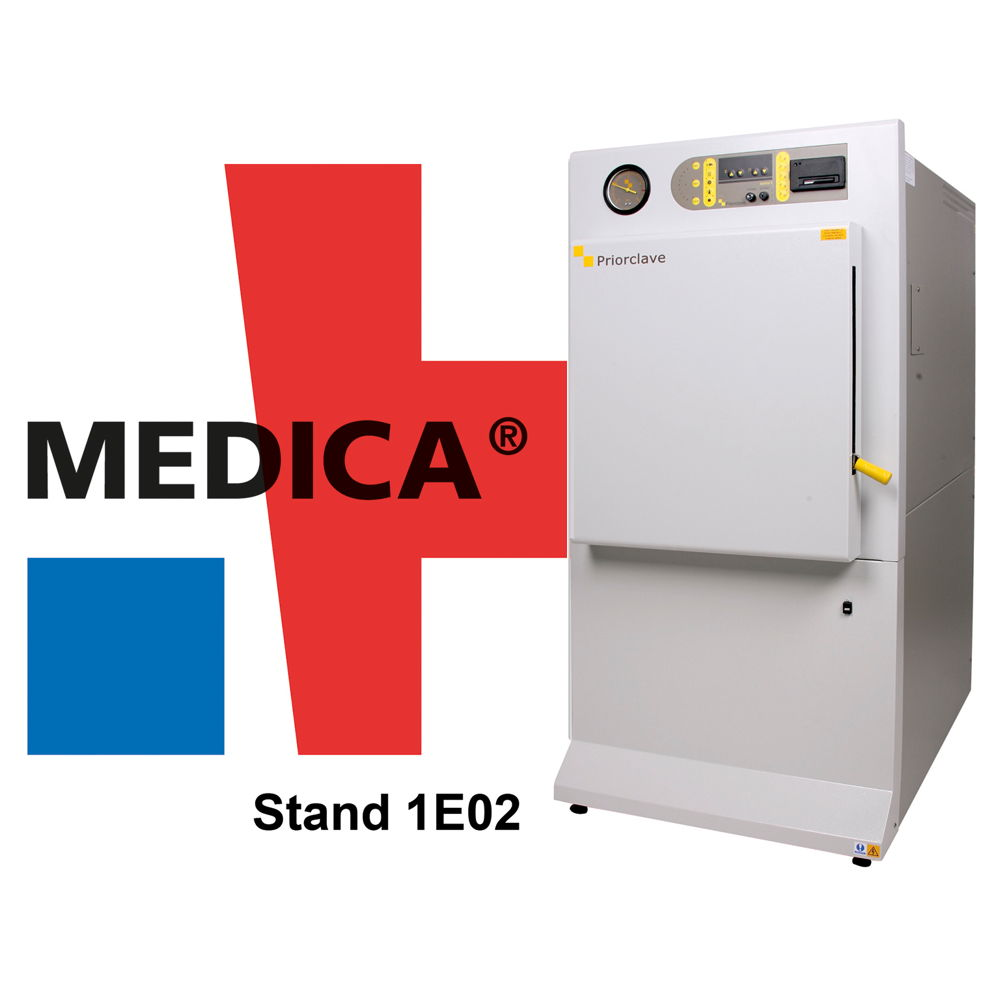 PRIORCLAVE Features Energy Efficient Autoclaves at MEDICA