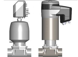 Válvula de diafragma motorizada para secções assépticas na i