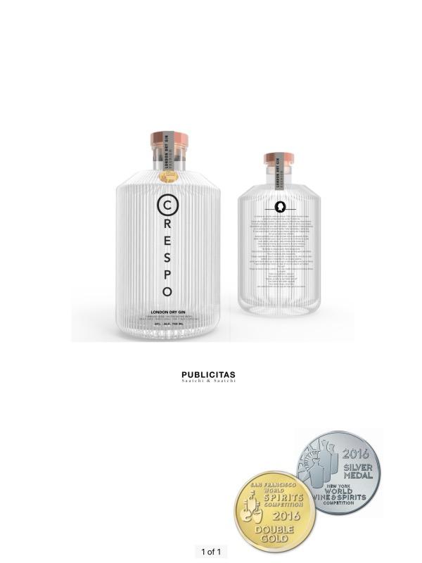 CRESPO Gin gewinnt Gold und Silber