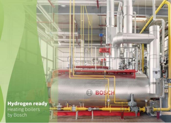 Bosch liefert Wasserstoff-Heizkessel