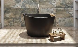 Новинки черных каменных ванн Viva Lusso
