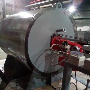 Generador de gases calientes de para la industria cementera
