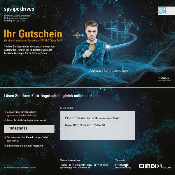 Messe sps ipc drives in Nürnberg 27.-29.11.2018