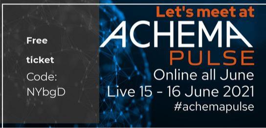 UWT möchte Sie zum Online-Event ACHEMA PULSE einladen.