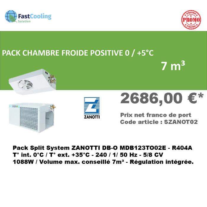 Pack Chambre froide positive Zanotti