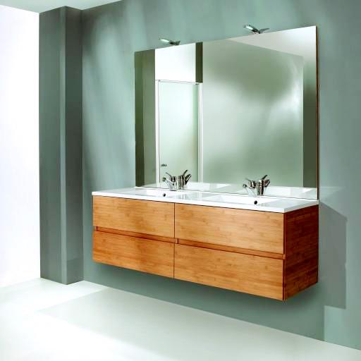 Plan de travail bambou salle de bain salle de bains - Plan de travail salle de bain ikea ...