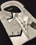 Cotton double collar men's shirts