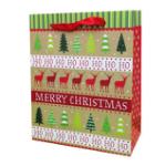 Christmas paper bag with handle