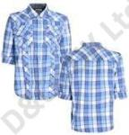 Mens checked cotton shirt UK clothing wholesale OFFER
