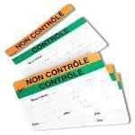 Etiquette contrôlé - non contrôlé
