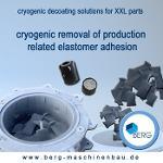 Kryogene Entgummierung von großdimensionierten Komponenten
