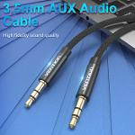 Vention BAG Audio Cable Black Metal Type