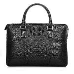 Luxury brifecase men Genuine Crocodile Leather bag black