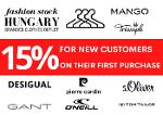 15% discount for new customers on their first purchase!