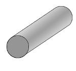 Circular solid rubber profile