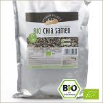 Bio Chia Samen (Salvia hispanica) schwarz-weiß