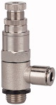 Compact pressure regulator, Push-in connector for hose...