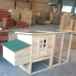 Wooden flat  top coop for animals