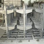 Charging racks and installations parts for shaft furnaces