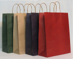 Kraft paper bag with paper handle
