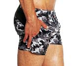 BOOMENBEX / GREY NAVY beachwear, swim short for men