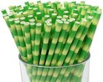 Quality Paper Drinking Straws - Bamboo Design