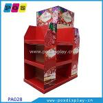 Half pallet paperboard display stand PA028